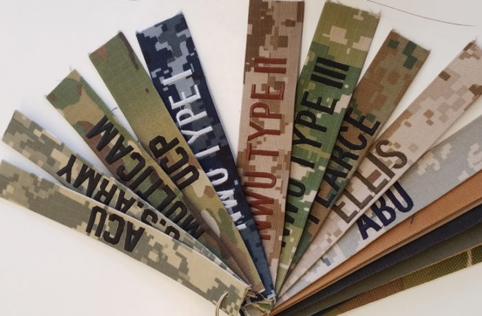 MILITARY NAME TAPES(W AND W/O VELCRO), ALL BRANCHES