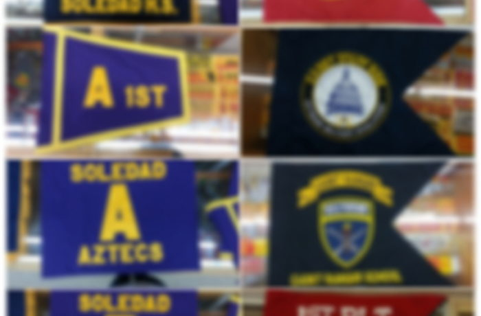 SCHOOL FLAGS, ROTC GUIDONS