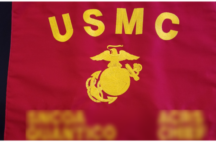 USMC 13″ X 17″  EMBROIDERED GUIDON